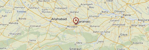 Carte Varanasi (Bénarès) - Inde