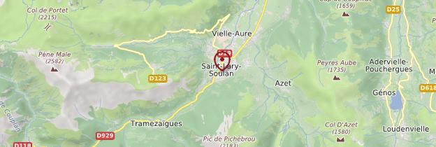 Carte Saint-Lary-Soulan - Midi toulousain - Occitanie