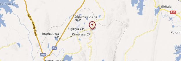 Carte Sigiriya - Sri Lanka