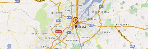 Carte Belfast (Béal Feirste) - Irlande