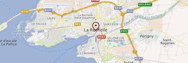 Carte La Rochelle - Poitou, Charentes