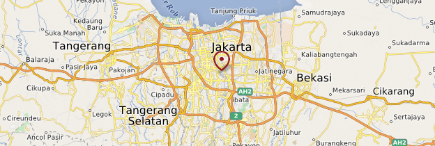Carte Jakarta - Indonésie