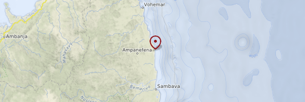 Carte Côte de la Vanille - Madagascar