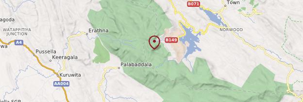 Carte Pic d'Adam - Sri Lanka