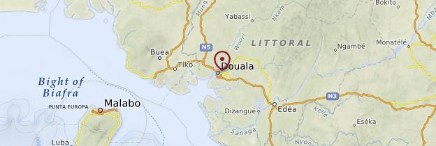 Carte Douala - Cameroun