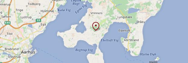 Carte Presqu'île de Djursland - Danemark