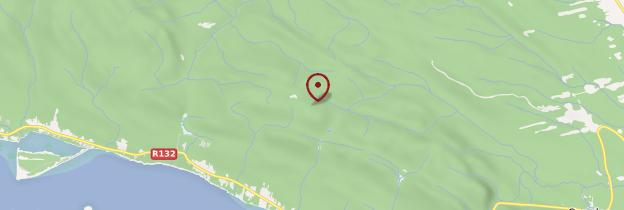 Carte Parc de Forillon - Québec