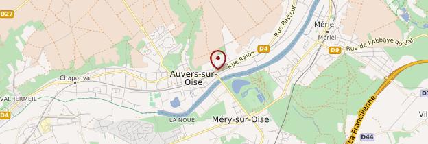 Carte Auvers-sur-Oise - Île-de-France