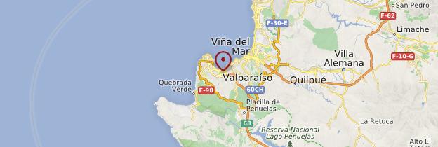 Carte Valparaíso - Chili