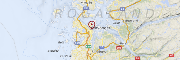 Carte Stavanger - Norvège