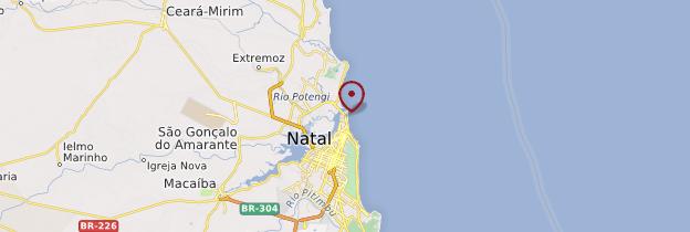 Carte Praia do Forte - Brésil