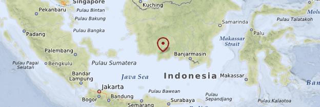 Carte Parc National Tanjung Puting - Indonésie