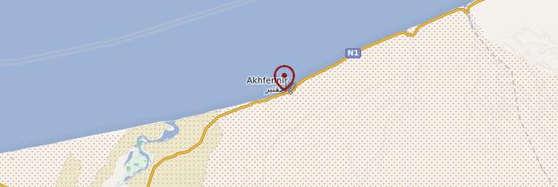 Carte Akhfenir - Maroc