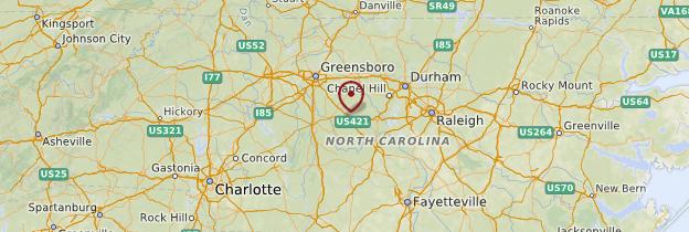Carte Caroline du Nord - États-Unis