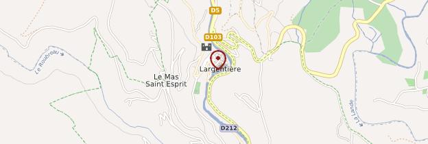 Carte Largentière - Ardèche, Drôme