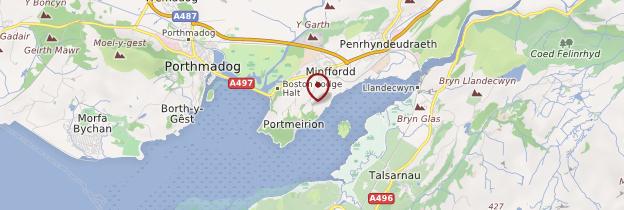 Carte Portmeirion - Pays de Galles