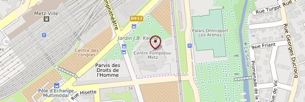 Carte Centre Pompidou-Metz - Lorraine