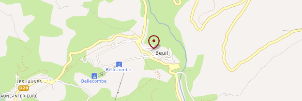 Carte Beuil - Côte d'Azur