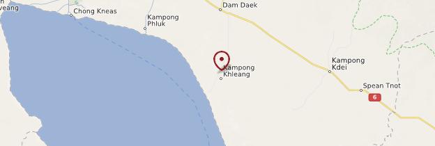 Carte Kampong Khleang - Cambodge