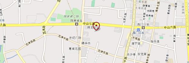 Carte Temple des Ancêtres de la famille Chen - Chine