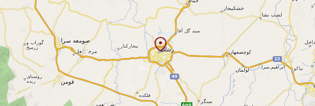 Carte Rasht - Iran