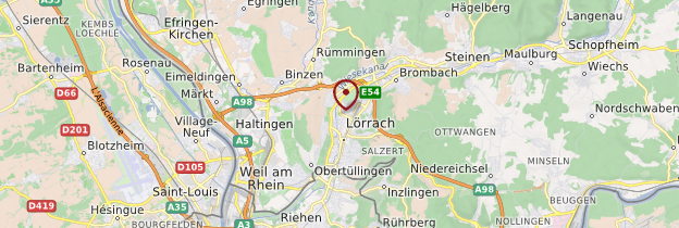 Carte Lörrach - Allemagne