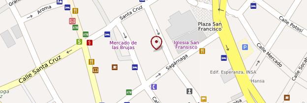 Carte Iglesia San Francisco - Bolivie