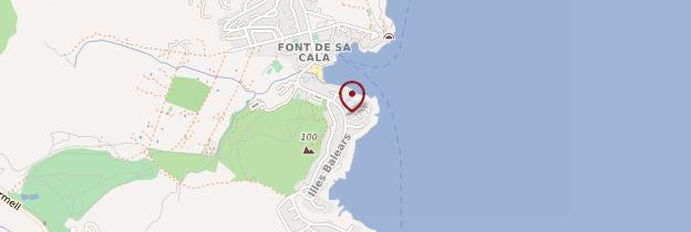 Carte Font de sa Cala - Majorque