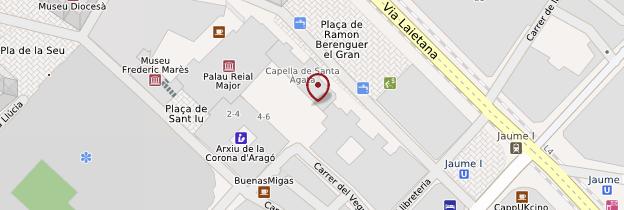 Carte Plaça del Rei - Barcelone