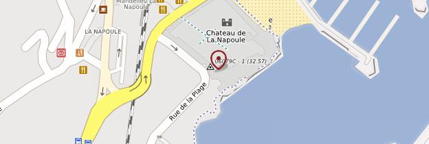 Carte Château-musée de La Napoule - Côte d'Azur