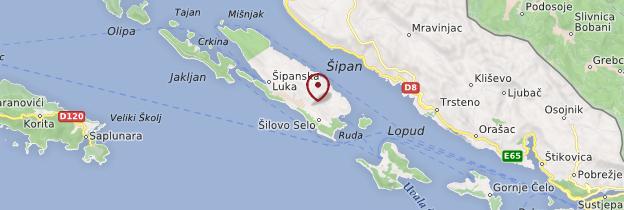 Carte Îles Élaphites - Croatie