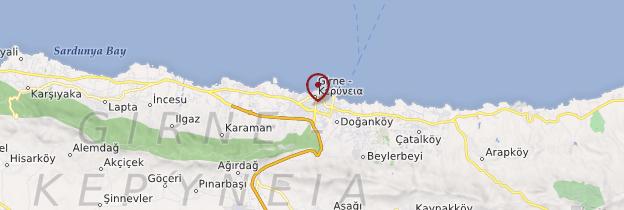 Carte Kyrénia (Girne) - Chypre