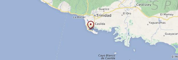 Carte Playa Ancón - Cuba