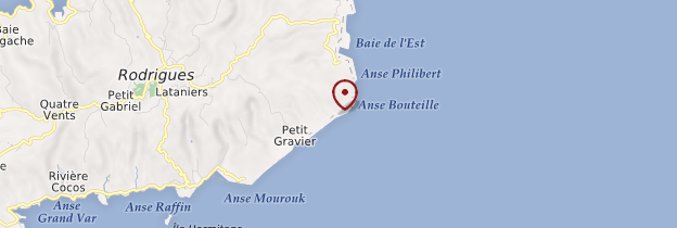 Carte Anse Bouteille - Île Maurice, Rodrigues