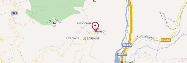 Carte Bonson - Côte d'Azur