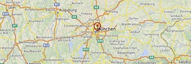 Carte Environs de Munich - Allemagne