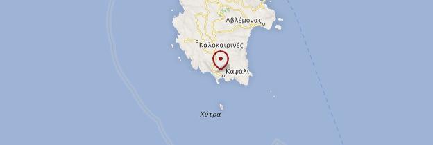 Carte Chora (Cythère) - Grèce