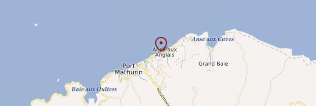 Carte Anse aux Anglais - Île Maurice, Rodrigues