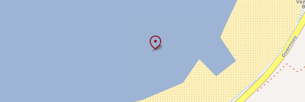 Carte Vazon Bay - Îles Anglo-Normandes