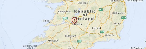 Carte Comté de Limerick - Irlande