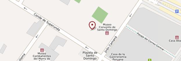 Carte Basílica y convento de Santo Domingo - Lima