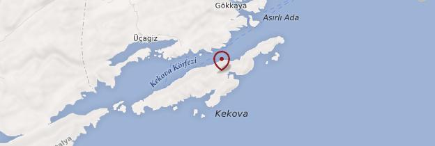 Carte Île de Kekova - Turquie