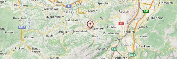 Carte Canton d'Appenzell Rhodes-Intérieures - Suisse
