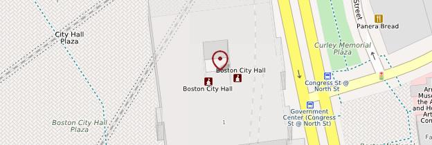 Carte Boston City Hall - Boston