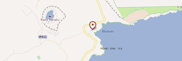 Carte Ahu Tongariki - Île de Pâques