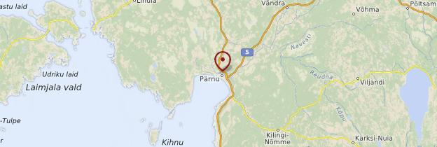 Carte Pärnu - Estonie