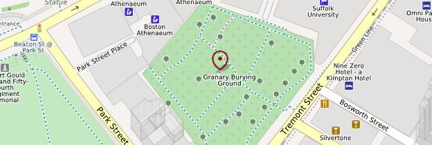 Carte Granary Burying Ground - Boston
