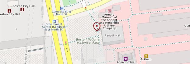 Carte Faneuil Hall - Boston