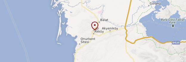 Carte Akköy - Turquie