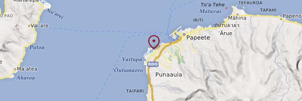 Carte Aéroport de Tahiti - Polynésie française